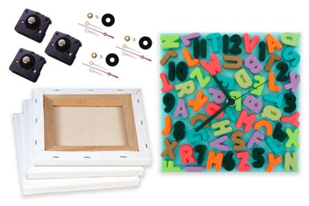 Kit Fabrication d'horloges - 3 horloges - Châssis déco – 10doigts.fr