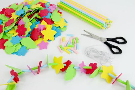 """Kit Colliers fleurs Hawaï  """"Aloha"""" - Kits activités Carnaval – 10doigts.fr"""