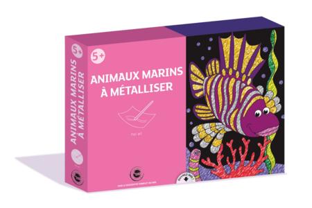 Coffret foil art - Thème mer - Sable coloré – 10doigts.fr