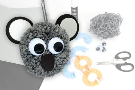 Kit pompons Koala - Kits Mercerie – 10doigts.fr