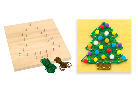Kit String Art Sapin de Noël - String Art – 10doigts.fr