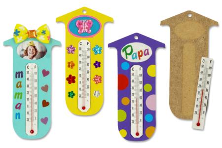 """Kit thermomètre (pour 12 réalisations) - Kits activités """"Cadeau à offrir"""" – 10doigts.fr"""