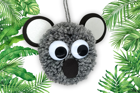 Koala en pompon - Activités enfantines – 10doigts.fr