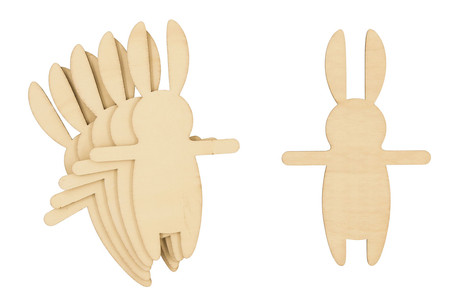 Lapins en bois - Lot de 6 - Lapins de Pâques – 10doigts.fr