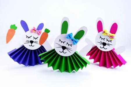 Lapins mignons en papier - Pâques – 10doigts.fr