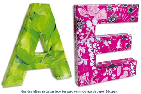 Lettres en carton papier mâhché - Lettres et Formes – 10doigts.fr