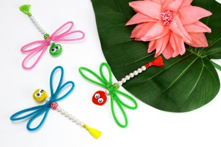 Libellules en perles faciles à fabriquer - Activités enfantines – 10doigts.fr