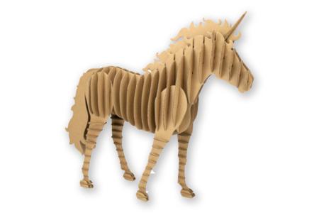 Licorne en carton à assembler - Maquettes en carton – 10doigts.fr