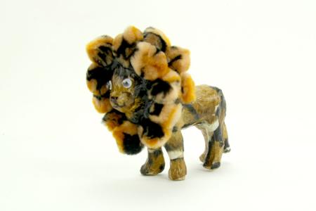 Lion en papier mâché 12 cm - Animaux en papier mâché – 10doigts.fr