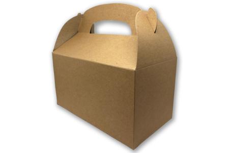 Boîtes à goûter en carton blanc ou kraft - Lot de 6 - Boîtes en carton – 10doigts.fr
