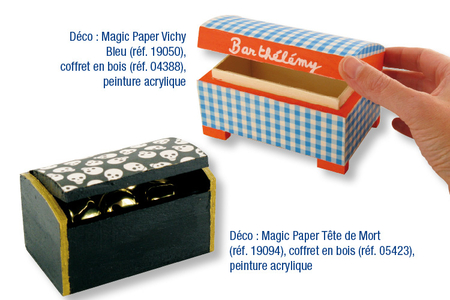 Magic Paper auto-adhésif à POIS Multicolores ou Blancs sur fond bleu - Magic Paper – 10doigts.fr