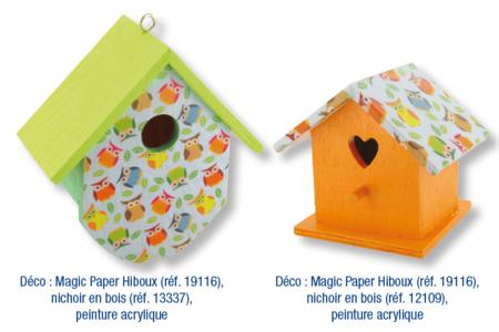 Magic Paper auto-adhésif Oiseaux - Washi paper / Magic paper – 10doigts.fr