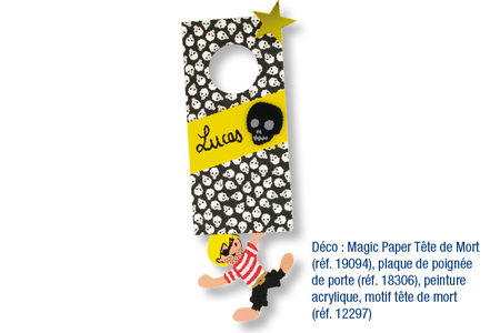 Magic Paper auto-adhésif Têtes de mort - Magic Paper – 10doigts.fr
