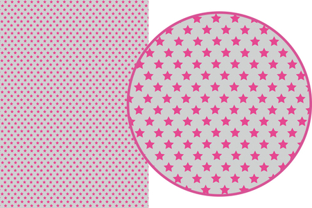 Magic Paper auto-adhésif Etoiles roses sur fond gris - Washi paper / Magic paper – 10doigts.fr