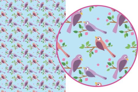 Magic Paper auto-adhésif Oiseaux - Magic Paper – 10doigts.fr