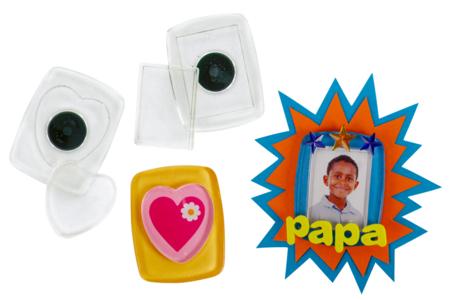 Cadre Magnets en plastique - 2 pièces - Cadres photos – 10doigts.fr