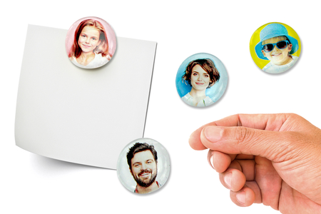 Magnets photos avec des galets en verre - Cadres, tableaux – 10doigts.fr