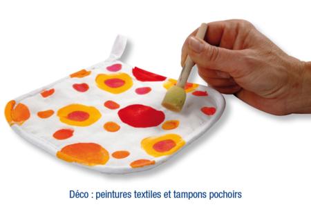 Manique de cuisine en coton blanc surpiqué - Déco de la maison – 10doigts.fr