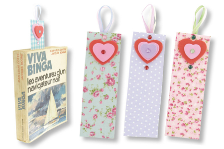 Marque-pages fleuris - Marque-pages – 10doigts.fr