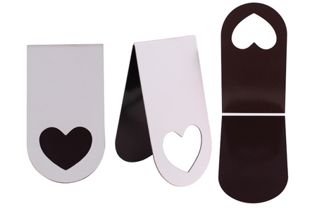 Maque-pages magnétique Coeur - Supports blancs – 10doigts.fr