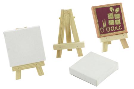 Mini chevalet avec toile - Tous les supports de Noël – 10doigts.fr