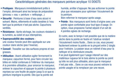 Marqueurs peinture pour Verre, Porcelaine, Métal - Peinture Verre et Faïence – 10doigts.fr