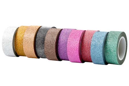 Masking tape pailleté - 10 rouleaux assorties - Adhésifs colorés et Masking tape – 10doigts.fr