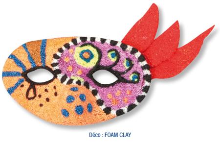 Loup décoré avec de la pâte à modeler FOAM CLAY - Carnaval, fêtes, masques – 10doigts.fr