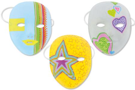 Masques à décorer - Tutos Carnaval – 10doigts.fr