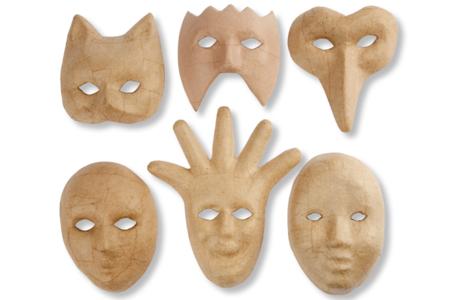 Masques décorés avec la pâte à modeler FOAM CLAY - Carnaval, fêtes, masques – 10doigts.fr