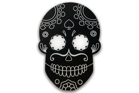 "Masque ""tête de mort"" en carte à gratter - Mardi gras, carnaval – 10doigts.fr"
