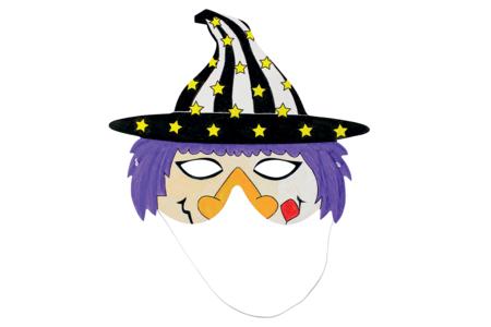 Masques à colorier Halloween - Set de 4 - Masques – 10doigts.fr