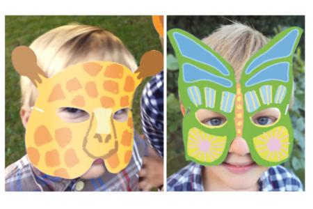 Masques animaux à décorer - Carnaval, fêtes, masques – 10doigts.fr