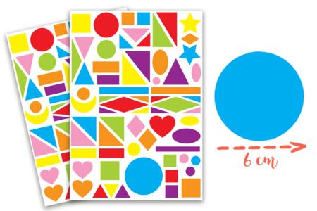 Maxi gommettes géométriques, formes assorties - 2 planches - Gommettes Géantes – 10doigts.fr