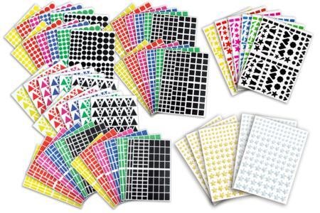 Gommettes assorties - Set de 7000 - Toutes les gommettes géométriques – 10doigts.fr