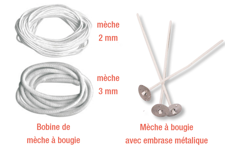 Mèche à bougie - Colorants, parfums, accessoires – 10doigts.fr