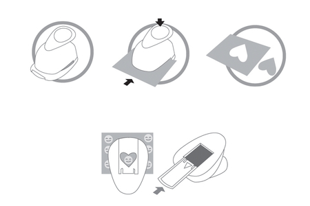 """Perforatrices thème """"Cœur"""" - à l'unité - Perforatrices fantaisies – 10doigts.fr"""