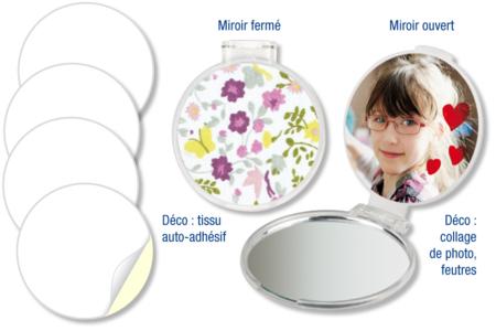 Miroir de sac à main - Miroirs à décorer – 10doigts.fr