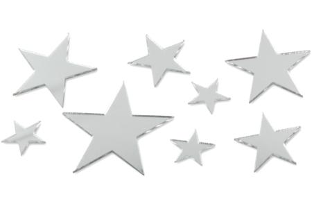 Miroirs adhésifs étoiles - Set de 8 - Miroirs – 10doigts.fr