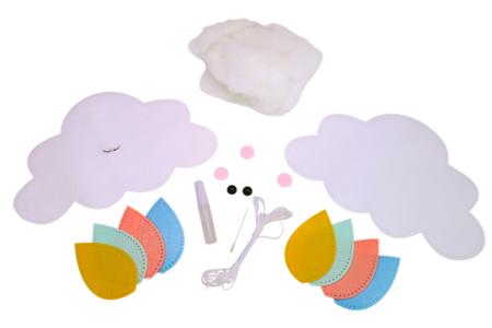 Kit mobile nuage en feutrine - Kits Mercerie – 10doigts.fr