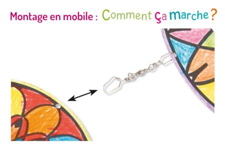 Mobiles Mandala à décorer - Supports pré-dessinés – 10doigts.fr