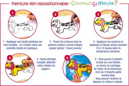 Peinture Film repositionnable - 80 ml - Peinture Verre et Faïence – 10doigts.fr