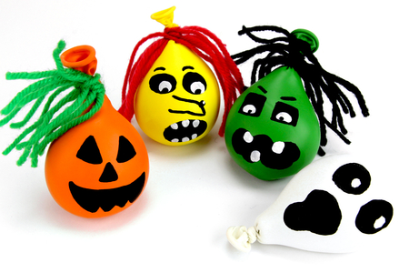 Monstres d'Halloween (balles anti-stress) - Halloween - 10doigts.fr