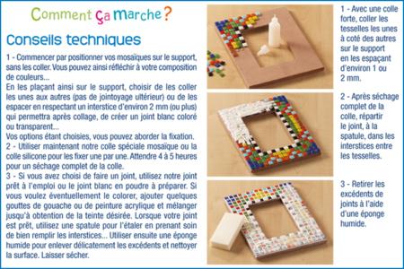 Colle pour mosaïques - 22 ml - Joint et outils pour mosaïques – 10doigts.fr