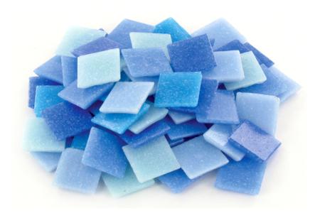 Mosaïques en pâte de verre- Camaïeu Bleu - Mosaïques pâte de verre – 10doigts.fr