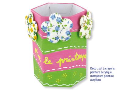 Coeurs en tissu molletonné fleuri - Set de 8 - Motifs en tissu molletonné – 10doigts.fr