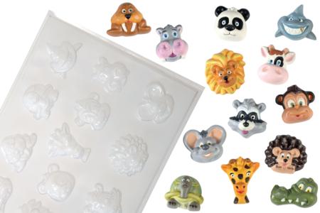 Moule 13 petits animaux - Moules pour plâtre, savon, béton ... – 10doigts.fr