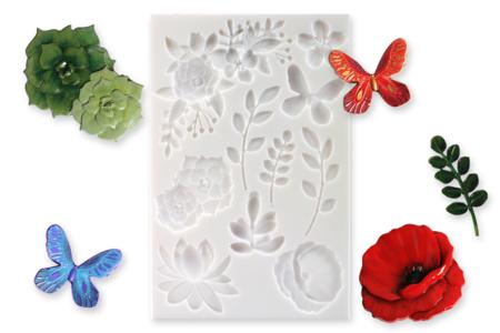 "Moule silicone ""Nature"" - 10 motifs - Moules en silicone – 10doigts.fr"