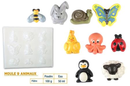 Moule 9 animaux - Moules – 10doigts.fr
