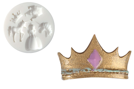 "Moule silicone ""Princesse"" - 5 formes - Moules en silicone – 10doigts.fr"